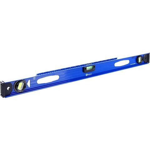 Уровень строительный КОБАЛЬТ 800 мм, профиль 25 x 60 мм, 3 глазка, 2 ручки, V-паз, точность 1,0 мм/м, литой