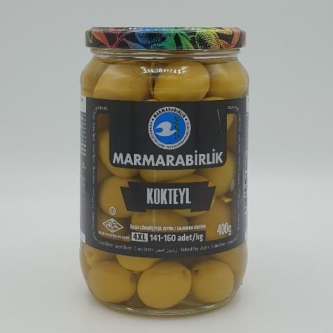 Оливки с косточкой (4XL) MARMARABIRLIK, 400 гр