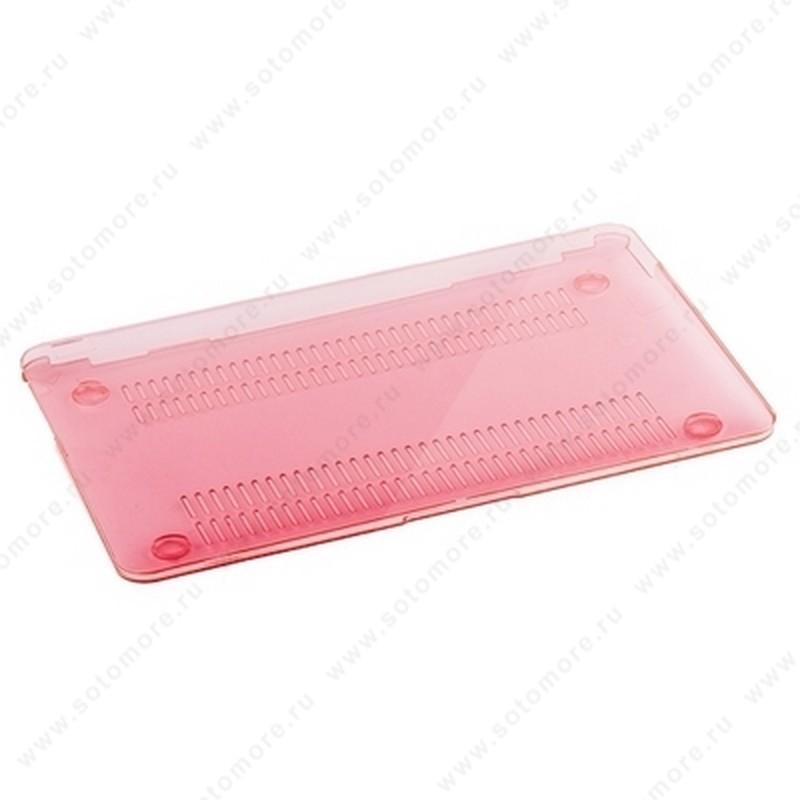 Накладка пластиковая для Macbook Pro 13 глянцевая розовая