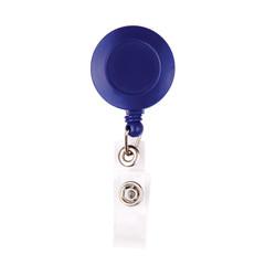 Держатель для бейджа Attache с рулеткой синий (без бейджа) 1шт
