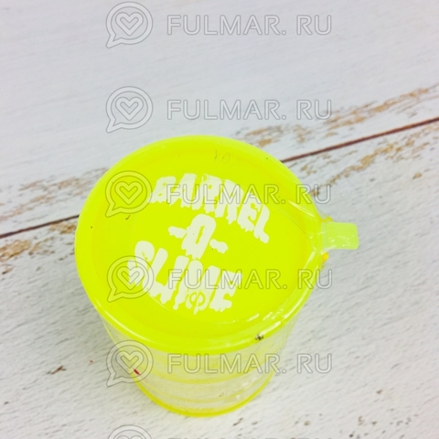 Лизун слайм в бочке  Barrel O Slime большой Жёлтый