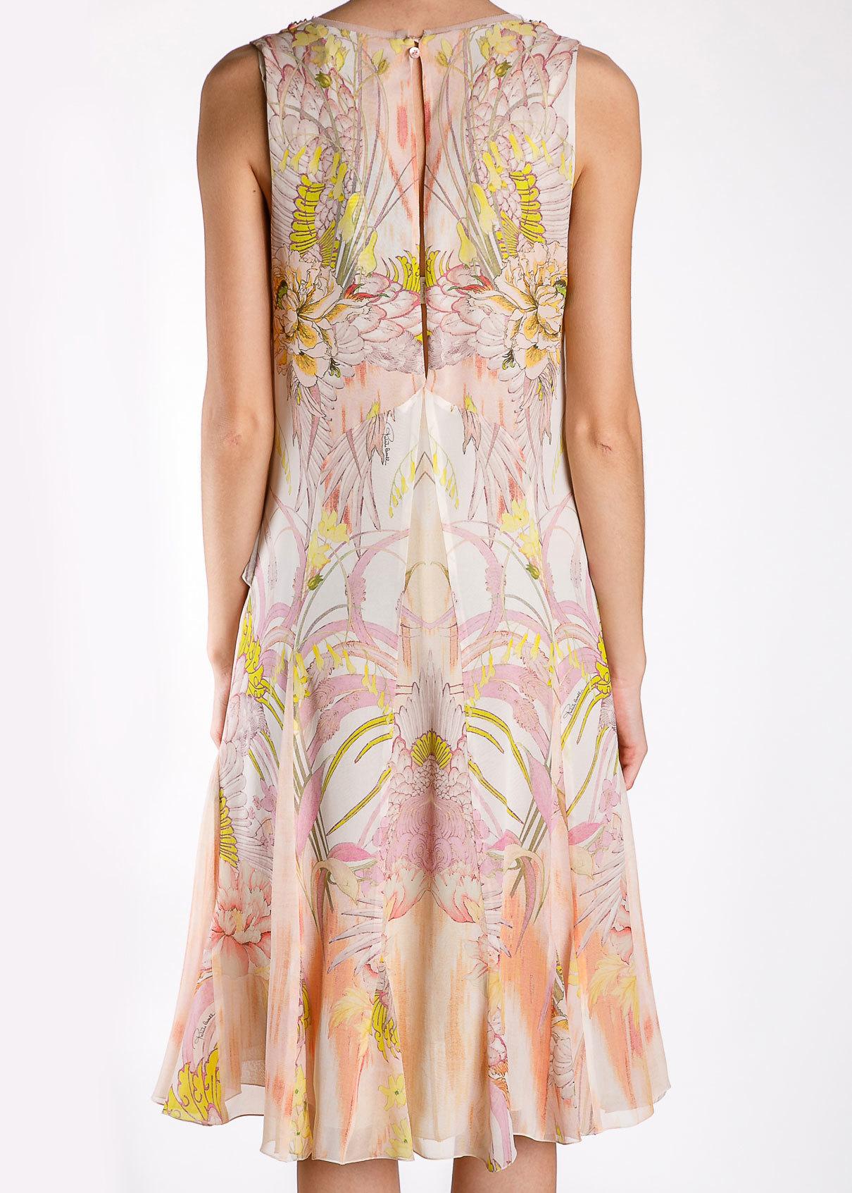 Платье из шелка ROBERTO CAVALLI