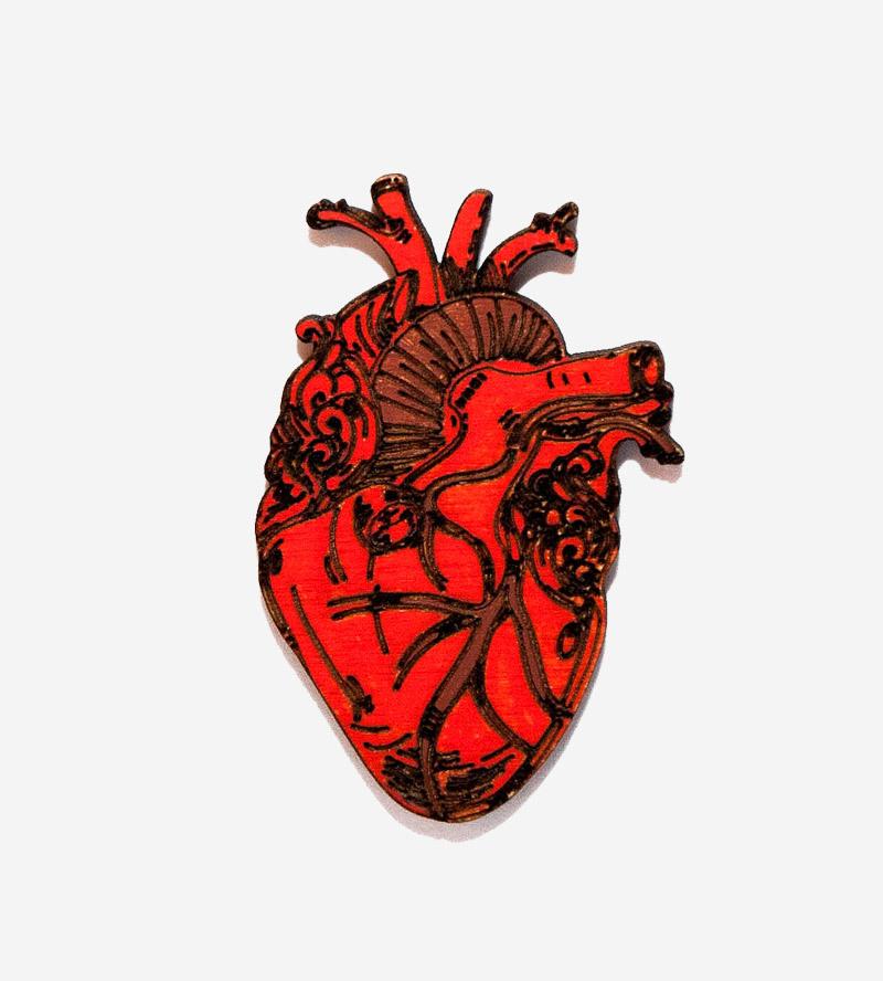 Брошь Настоящее Сердце