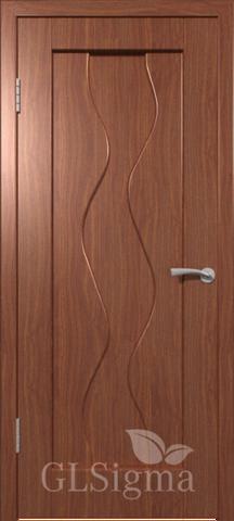 Дверь GreenLine Sigma-4, цвет итальянский орех, глухая