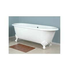 Ванна чугунная классическая Magliezza Patricia 168x76,6 компелкте с ножками белыми