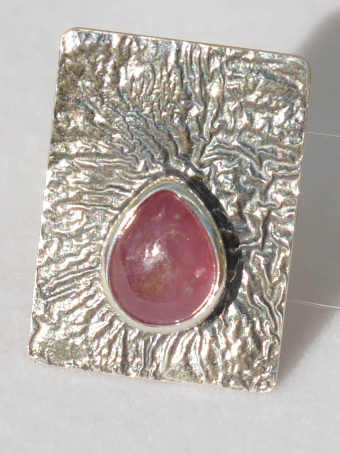 Рубин овал (кольцо из серебра)