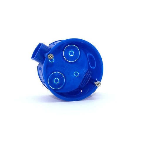 Установочная коробка СП D60х40мм, саморезы, стыковочные узлы, синяя, IP20,TDM
