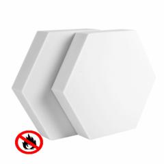 негорючие акустические декоративные элементы шестигранники  600мм