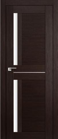 Дверь GreenLine X-16, стекло белое, цвет венге, остекленная
