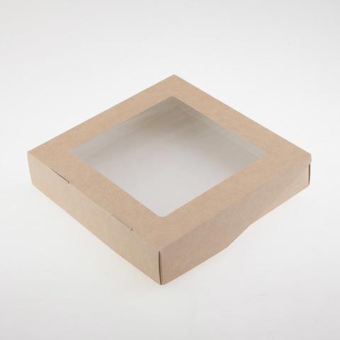 Коробка эко-крафт большая с окошком