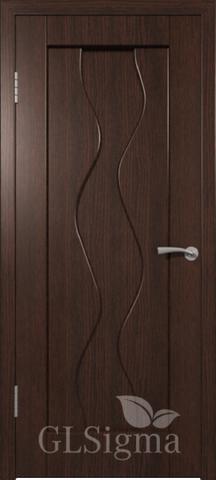 Дверь GreenLine Sigma-4, цвет венге, глухая