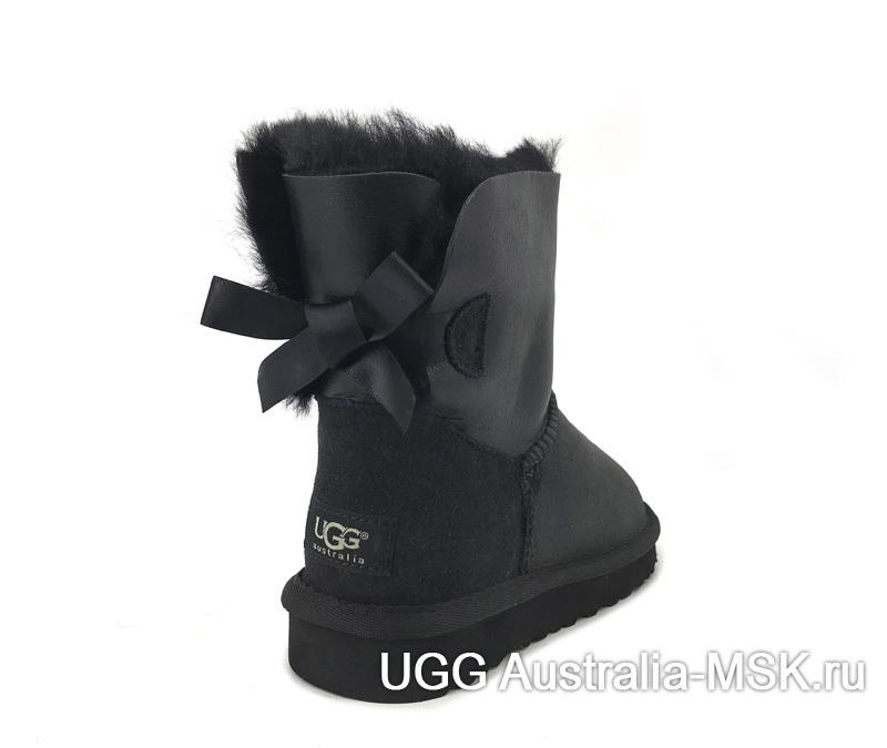 UGG Bailey Bow Mini Metallic Black