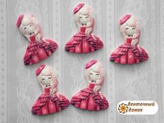 Декор Кукла в малиновом платье (6)