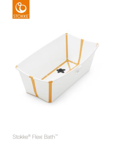Желтая складная ванночка с рождения до 4 лет Stokke® Flexi Bath®