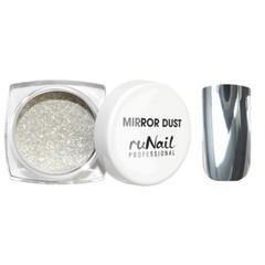 MIRROR DUST зеркальная пыль для втирки с аппликатором цвет СЕРЕБРО арт(3173)