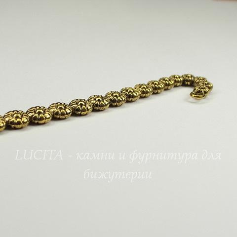 """Основа для закладки """"Маргаритки"""" (цвет - античное золото) 12 см"""