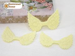 Декор глиттерный крылья лимонные