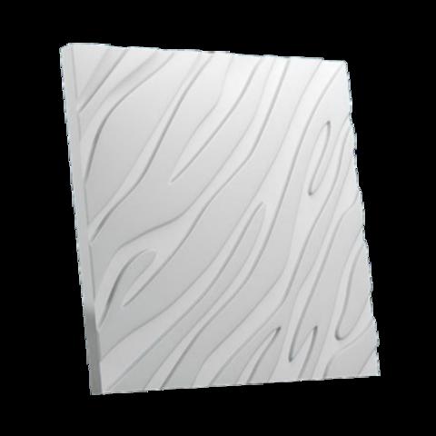 Гипсовая 3Д панель Зебра