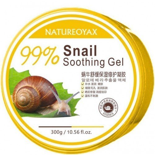 Natureoyax Увлажняющий гель Слизь улитки и Алоэ вера Snail Soothing Gel, 300 г