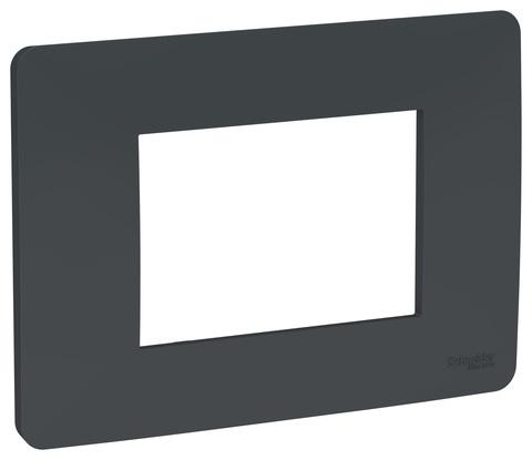 Рамка 3-модульная, Цвет Антрацит. Schneider Electric. Unica Modular. NU210354