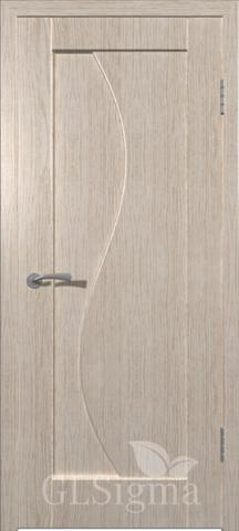 Дверь GreenLine Sigma-5, цвет беленый дуб, глухая