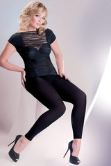 Леггинсы 163 Leggins long 100 den Nero