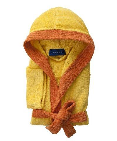Элитный халат детский махровый Young желтый от Caleffi