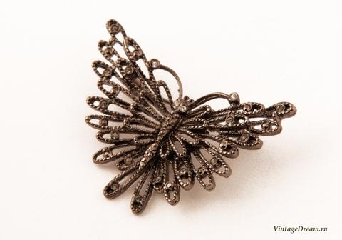 Элегантная ажурная брошь Бабочка от Oscar de la Renta.