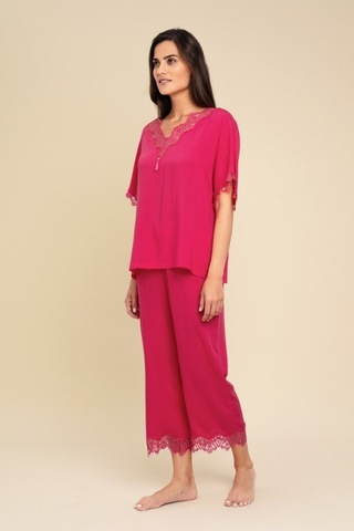 LAETE Женская пижама из  вискозы с кружевом 61343-2