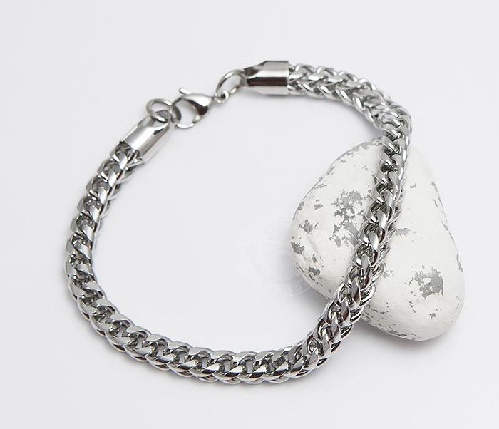 BM487 Лаконичный мужской браслет цепь из стали (25 см) фото 04