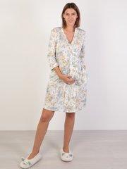 Евромама. Халат для беременных и кормящих на запах тенсель, голубой