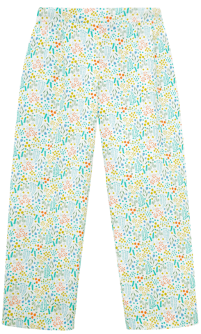 Green Print Trousers