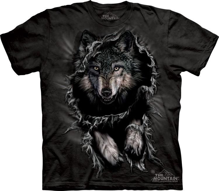 Футболка Mountain с изображением прорывающегося волка - Breakthrough Wolf