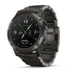 Умные авиационные часы Garmin D2 Delta PX 010-01989-31 с титановым DLC ремешком