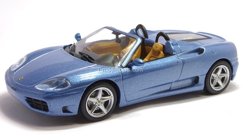 Ferrari 360 Spider blue 1:43 Eaglemoss Ferrari Collection #24