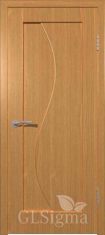 Дверь GreenLine Sigma-5, цвет миланский орех, глухая