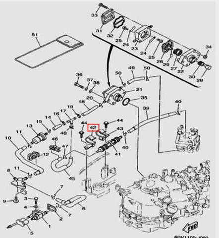 Зажим для лодочного мотора F5 Sea-PRO(9-42)