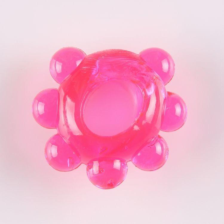 Эрекционные кольца: Розовое эрекционное колечко Цветок
