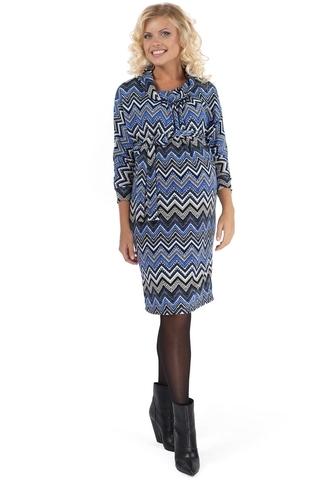 Платье 06105 синий