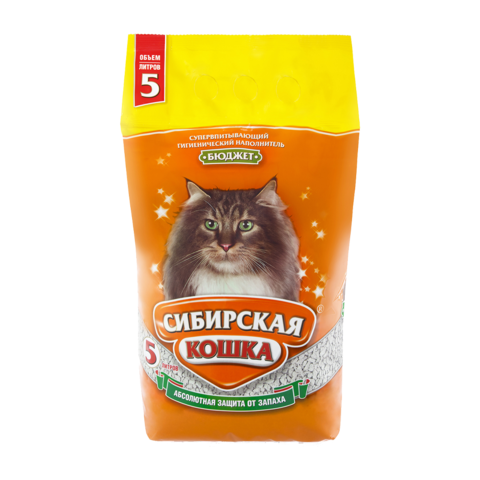Сибирская кошка Бюджет Наполнитель для туалета кошек впитывающий