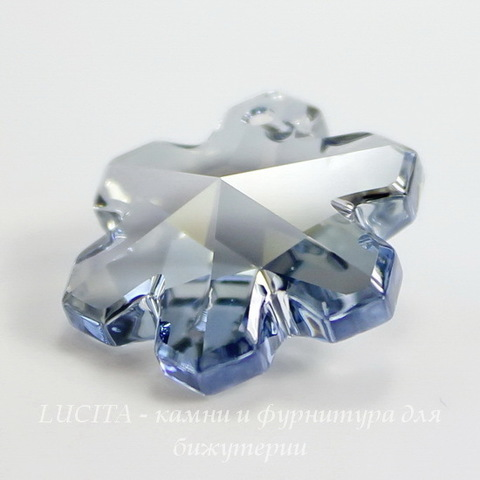 6704 Подвеска Сваровски Снежинка Crystal Blue Shade (20 мм)