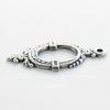 Винтажный декоративный элемент - подвеска - рамка 30х15 мм (оксид серебра)