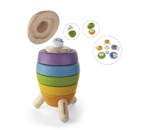 Деревянная пирамидка ракета Plan Toys