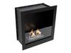 Встраиваемый биокамин Lux Fire Кабинет 610 М (черные держатели стекла)