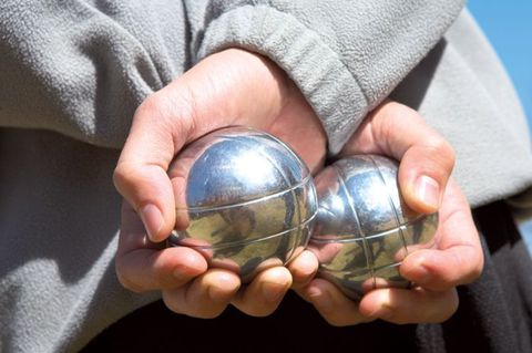 Петанк (боча) серебро + черный, 6 шаров