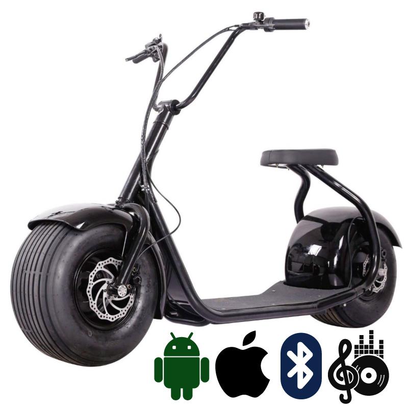 Seev Citycoco чёрный + Bluetooth-музыка - Электросамокат взрослый, артикул: 783824