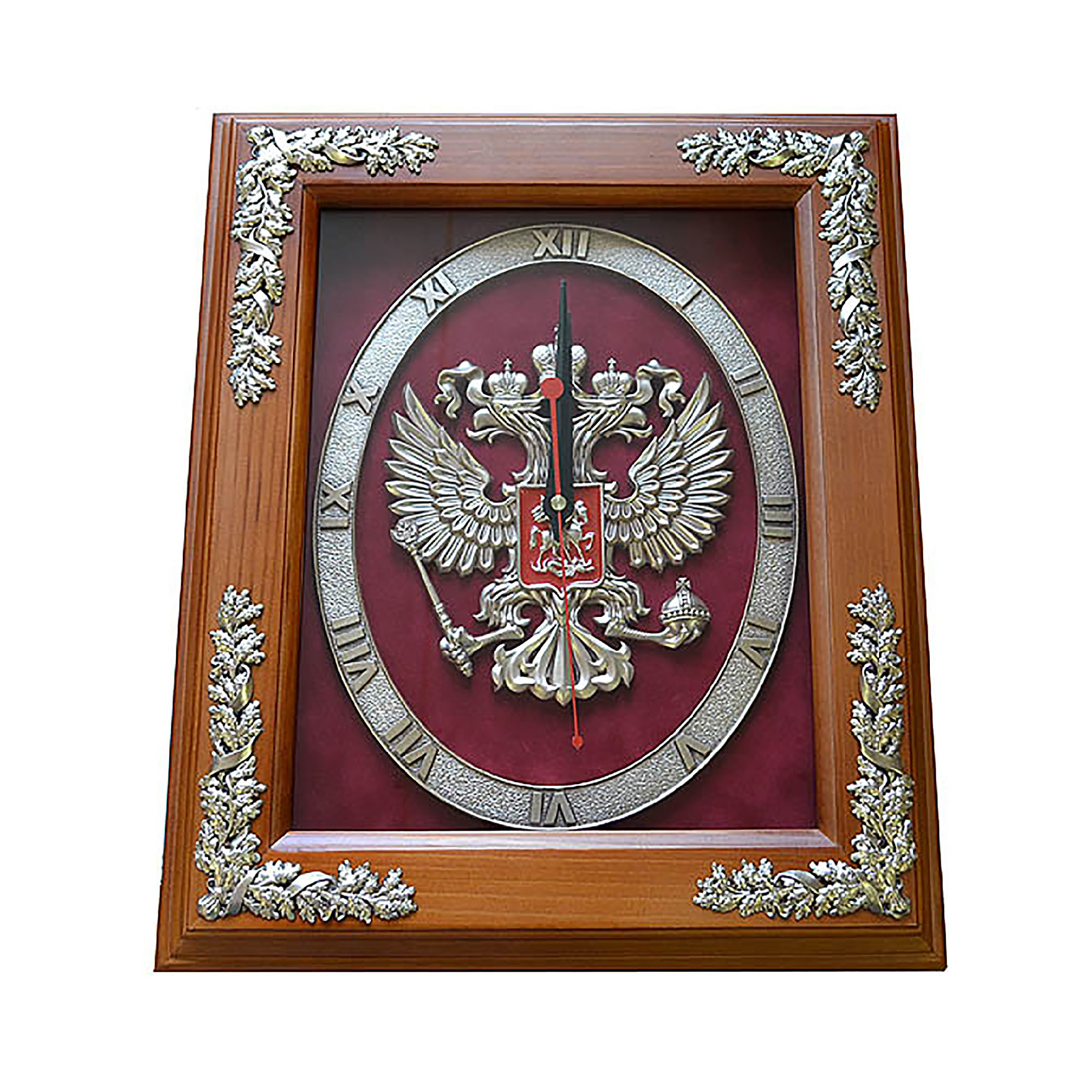 """Настенные часы """"России"""", в деревянной раме от 7 700 руб"""