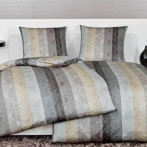 Постельное белье 2 спальное Janine Messina 4720 taupe-kitt-silber