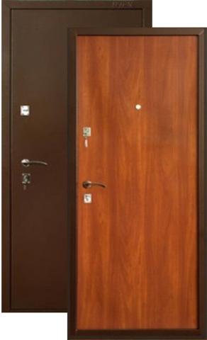 Дверь входная Меги ДС-150, 2 замка, 1,2 мм  металл, (медь+итальянский орех)