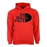 Толстовка Da Mad Face красная фото